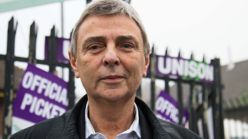 Dave Prentis picket line